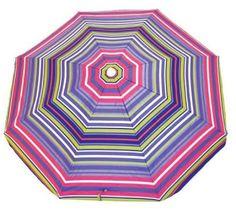 Purple Stripe Beach Umbrella from umbrellas.com