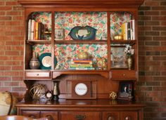 Modernizing a China Cabinet without paint! | www.rappsodyinrooms.com
