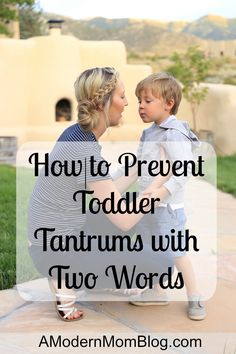 Tantrums can be difficult to manage, but we've found a two word phrase that helps prevent tantrums due to disappointments and accidents.