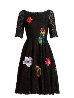 Floral-embellished cordonetto-lace dress | Dolce
