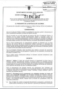 Decreto 092 de 2017 #Contratación ONG #Colombia