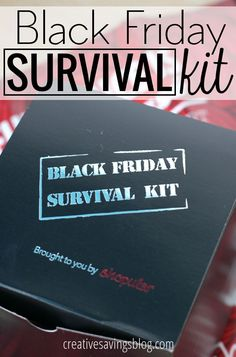 If you plan to go Black Friday shopping this year, don't forget to pack these 8 essential items. I like to call them my Black Friday Survival Kit!
