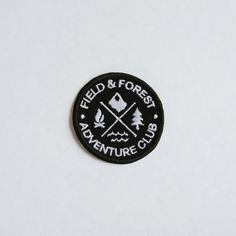 Adventure Club Patch by Field & Forest embroidered patch.Each patch is made to order and hand-finished in our shop. Slight variations may occur. The patches have an iron-on backing but for maximum durability we do recommend sewing them on. Cute Patches, Pin And Patches, Iron On Patches, Camping Club, Camping And Hiking, Forest Adventure, Patch Design, Badge Design, Space Travel
