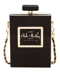 Look at this Pink Cosmo Black Perfume Bottle Box Clutch on #zulily today!