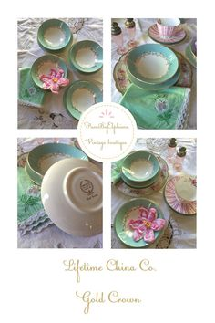 Lifetime China Gold Crown 11 piece set by PucaByElphiena on Etsy