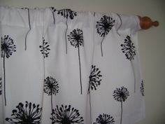 Dandelion Valances Collection by CleusaSordiDecor on Etsy