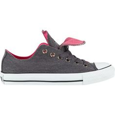 CONVERSE Chuck Taylor All Star Double Tongue Womens Shoes Color: Dark Grey/Pink  $49.99