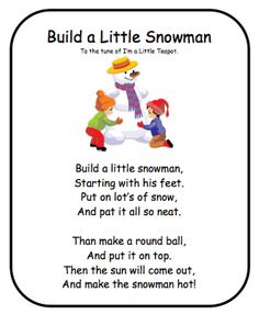 Snowman Poem!- Re-pinned by @PediaStaff – Please Visit http://ht.ly/63sNt for all our pediatric therapy pins Snowman Poem, Snowman Songs, Snowman Crafts, Snowmen, Preschool Poems, Preschool Music, Kindergarten Poems, Kids Poems, Preschool Activities