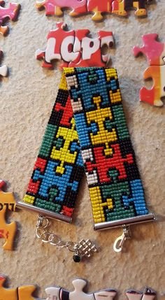Multicolor puzzel armband