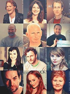 Outlander Cast: Wonderfully rich characters playered by terrific actors : ) Diana Gabaldon Books, Diana Gabaldon Outlander Series, Outlander Season 1, Outlander Book Series, Outlander 3, Outlander Casting, Sam Heughan Outlander, Claire Fraser, Jamie And Claire