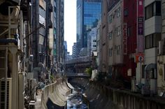 Japan's densely-packed cities provide a real-life analog of (and source of inspiration for) cyberpunk's epic urban sprawl. (Shibuya, Japan)