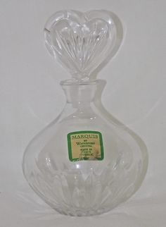 MARQUIS by Waterford Crystal Vintage Perfume Bottle - Heart Shaped Stopper, $29.99
