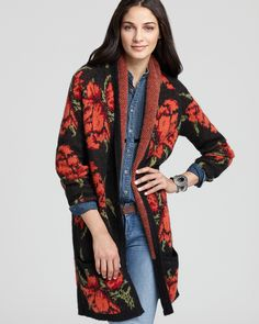 Free People Cardigan - Flower Power - Sweaters - Apparel - Women's - Bloomingdale's