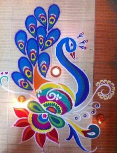 Here are some of the best Rangoli designs for diwali. These rangoli designs are simple and easy to draw. So decorate your house with beautiful rangoli designs. Rangoli Patterns, Rangoli Designs Diwali, Rangoli Ideas, Diwali Rangoli, Best Rangoli Design, Free Hand Rangoli Design, Beautiful Rangoli Designs, Peacock Drawing, Peacock Art