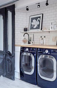 Reclaimed Furniture - Design Chic #Homes #HomeDecorators #LaundryRoomIdeas