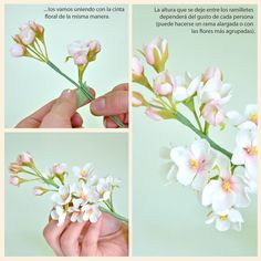 KIREI Tutoriales: Sakura. This tutorial is not for gum paste but the procedures are the same.
