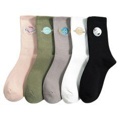 Space Socks, Style Kawaii, Cheap Socks, Girls Socks, Women Socks, Nike Socks, Crazy Socks, Cute Japanese, Colorful Socks