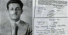 Ο Άρης Βελουχιώτης με κοστούμι στον απόρρητο φάκελο του στην Ασφάλεια Military History, Athens, Old Photos, Greece, Facts, War, Memories, Teaching, Celebrities