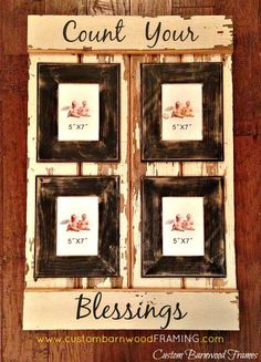 custom barnwood frames sign count your blessings 7450 http