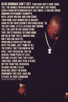 """smokewithmirrors: """"My favorite verse from Pac, Thugz Mansion. """""""