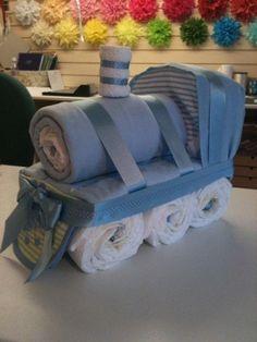 diaper cake train