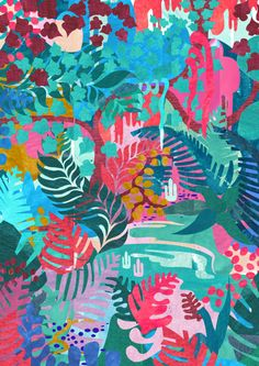phoebebaskett:  Jungle design copyright phoebe baskett 2014