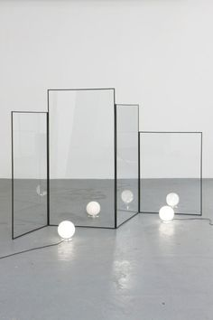 Awesome room divider! Mirrored - Perfect for a small space (Though maybe want to look up feng shui around this)
