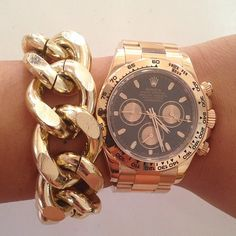 watch and chunky bracelet ♥✤ | Keep the Glamour | BeStayBeautiful