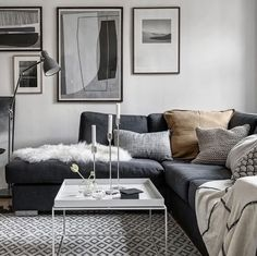 A cosy living room via Alvhem
