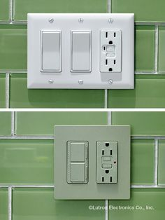 Eliminate wall clutter with Lutron dual  controls--and do it in great colors--and  with a screwless wallplate!  www.automation-design.com
