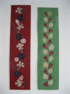 2 marcadores. Presiona favoritos de flor. por PressedFlowerPeace