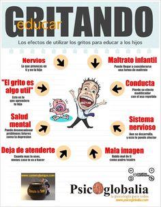 Los perjuicios de educar gritando #infografia #infographic #edcuation