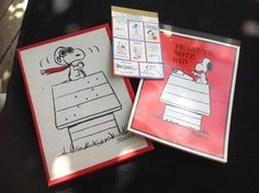 Vintage Peanuts (Snoopy) Hallmark Stationery Set Including Stickers