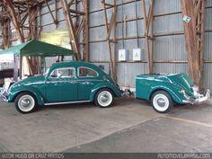Bug and little bug trailer Carros Retro, Vw Camping, Hot Vw, Vw Engine, Bug Car, Kansas Usa, Vw Classic, Custom Trailers, Morris Minor