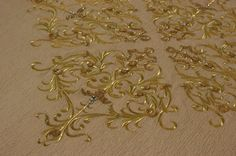Gold Necklace, Embroidery, Pattern, Jewelry, Gold Pendant Necklace, Needlepoint, Jewlery, Jewerly, Patterns