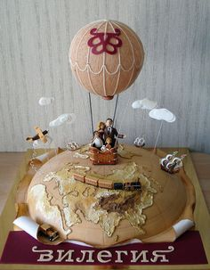 "Hot air balloon, travelers cake | Торт ""Вилегия"""