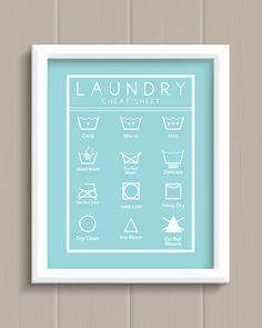 Laundry Room Cheat Sheet Art Print - cute AND functional artwork!
