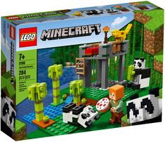 Lego Minecraft 21158 The Panda Nursery. The LEGO® Minecraft Panda Nursery toy building set brings these adventures to life, giving kids an authentic, hands-on Minecraft play experience in the real world. Lego Minecraft, Minecraft Computer Game, Video Minecraft, Minecraft Skins, Minecraft Buildings, Minecraft Crafts, Lego Sets, Lego Building Sets, Panda Nursery