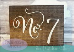 Wedding Table Numbers Table Number Wedding by SweetNCCollective, $4.75