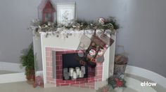 Cardboard Fireplace DIY for Christmas - YouTube