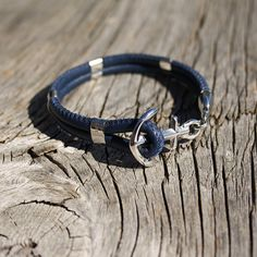Nautical anchor genuine leather bracelet New Haven by Maris Sal on Etsy, $48.00