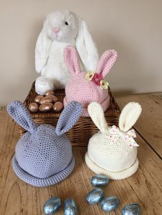 LoveCrochet | With spring and Easter just around the corner, you'll love Kate Eastwood's tutorial for bunny hats for babies! What could be cuter than a baby in a bunny hat? Kate's baby bunny hats co