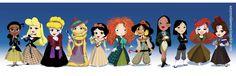 doctor who bbc disney Pixar Rapunzel ariel jasmine Aurora cinderella pocahontas Mulan Belle Tiana snow white disney princesses merida Doctor Who Cosplay, Disney And Dreamworks, Disney Pixar, Disney Characters, Disney Art, Funny Disney, Female Characters, Merida Disney, Brave Merida