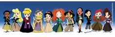 Disney Doctor Who Princesses - Love it!