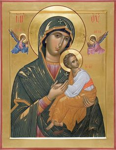 Religious Images, Religious Icons, Religious Art, Holly Pictures, Church Icon, Queen Of Heaven, Byzantine Icons, Madonna And Child, Art Icon