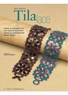 TilaLace Bracelets by Halpenny Beaded Bracelets Tutorial, Beaded Bracelet Patterns, Woven Bracelets, Seed Bead Bracelets, Seed Bead Jewelry, Jewelry Crafts, Handmade Jewelry, Bijoux Diy, Beads And Wire