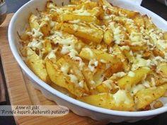 ....ANNE ELİ GİBİ.....: Fırında Kaşar Peynirli ,Baharatlı Patates