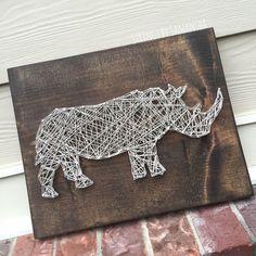 MADE TO ORDER Rhino String Art Sign by StringsbySamantha on Etsy