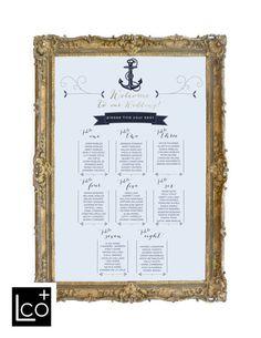 Nautical Wedding Seating Assignments Wedding Seating by LCOonEtsy Wedding Table Assignments, Seating Chart Wedding, Wedding Table Numbers, Wedding Crafts, Diy Wedding, Wedding Ideas, Wedding Things, Nautical Party, Nautical Wedding