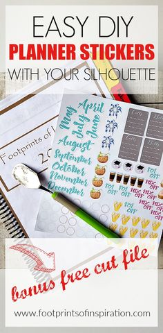 This is a great tutorial to learn how to make DIY Planner Stickers with your Silhouette. It even comes with a free cut file!